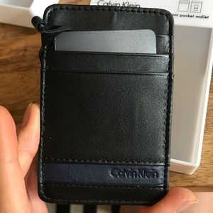 Calvin Klein front pocket wallet black